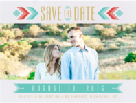 Southwestern Chic Save the Date Wedding Invitation