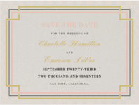 Interlinked Save the Date Wedding Invitation