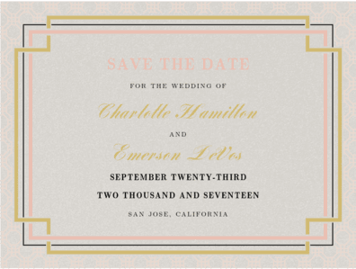 Interlinked Save the Date Save the Date