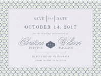 Ornate Lattice Save the Date Wedding Invitation