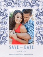 Porcelain Petals Save the Date Wedding Invitation