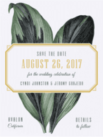 Eclectic Cabana Save the Date Wedding Invitation