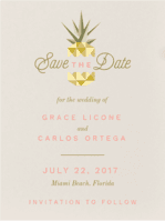Geo Pineapple Save the Date Wedding Invitation
