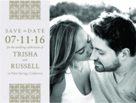 Resort Romance Save the Date Wedding Invitation