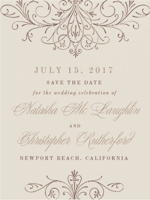 Hopeless Romantic Save the Date Save the Date