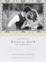 Palatial Tiles Save the Date Wedding Invitation