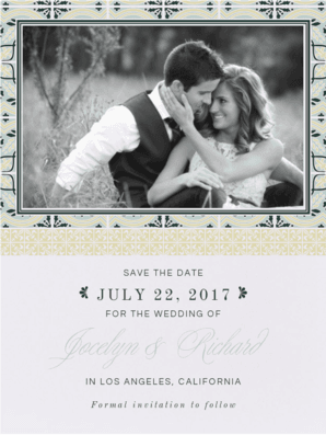 Palatial Tiles Save the Date Save the Date