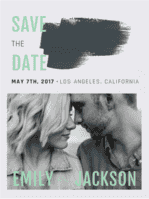 Swept Away Save the Date Wedding Invitation
