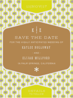 Mid-Century Matrimony Save the Date Wedding Invitation
