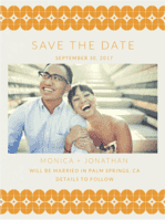Retro Shine Save the Date Wedding Invitation