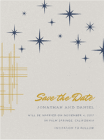Star Dust Save the Date Wedding Invitation