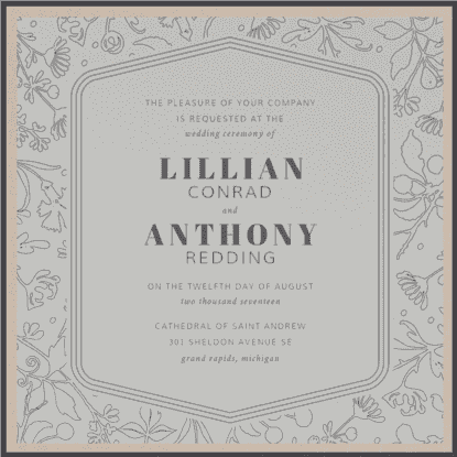 Delicate Spring Wedding Invitation