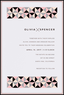 Simply Studded Wedding Invitation