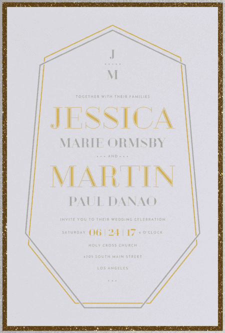 Crystal Luxe Wedding Invitation