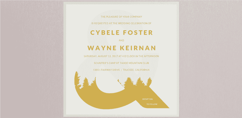 Forester Wedding Invitation