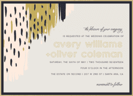 Color Theory Wedding Invitation