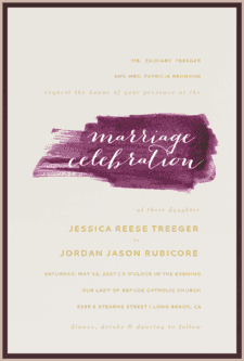 Painted Love Wedding Invitation