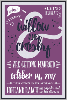 A Handlettered Bash Wedding Invitation
