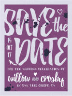 A Handlettered Bash Save The Date Wedding Invitation