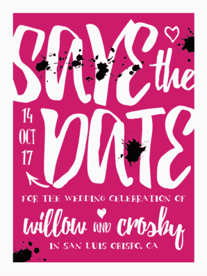 A Handlettered Bash Save The Date Save the Date
