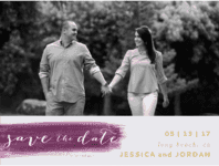 Painted Love Save The Date Wedding Invitation