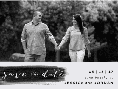 Painted Love Save The Date Save the Date