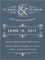 French Quarter Save The Date Wedding Invitation