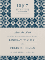 Perfect Type Save The Date Wedding Invitation