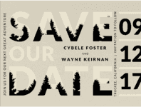 Forester Save The Date Wedding Invitation