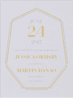 Crystal Luxe Save The Date Wedding Invitation