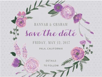 Sweet Bouquet Save The Date Save the Date