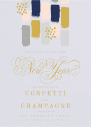 Confetti and Champagne Wedding Invitation