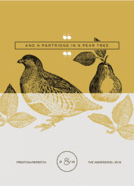 Partridge Wedding Invitation