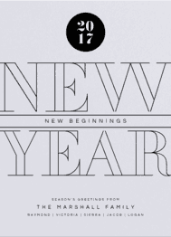 New Year New Beginnings Wedding Invitation