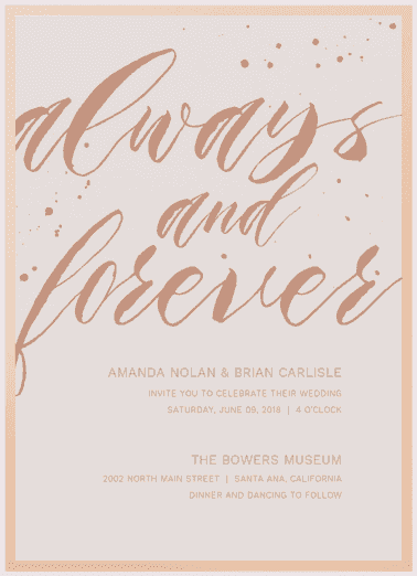 Always and Forever Wedding Invitation