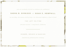 Particularly Fine Wedding Invitation