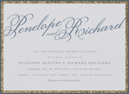 Big Night Wedding Invitation