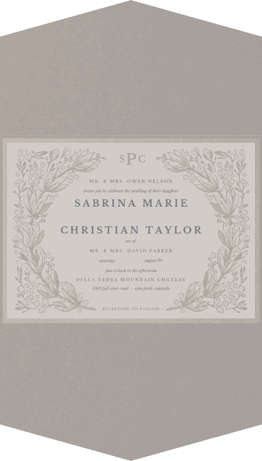 Secret Garden Wedding Invitation