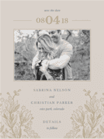 Secret Garden Save the Date Wedding Invitation