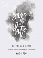 Aquarelle Save the Date Wedding Invitation
