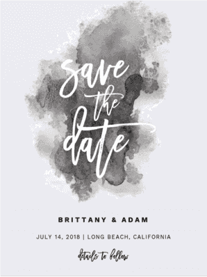 Aquarelle Save the Date Save the Date