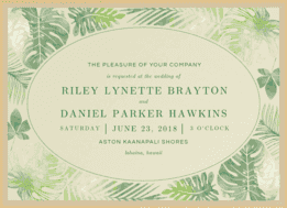 Paradise Island Wedding Invitation