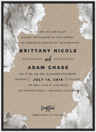 Aquarelle Wedding Invitation