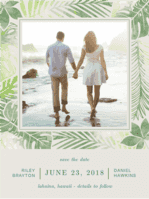 Paradise Island Save the Date Wedding Invitation