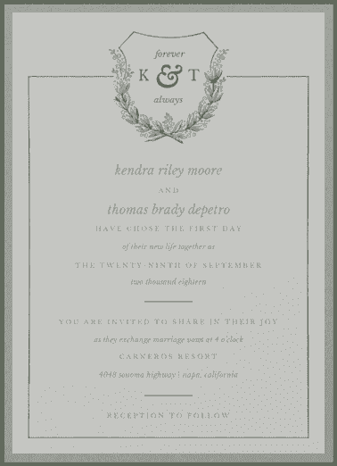 Open Highway Wedding Invitation