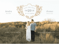 Open Highway Save the Date Wedding Invitation