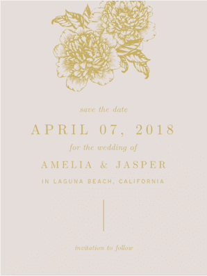 Love is Blooming Save the Date Save the Date