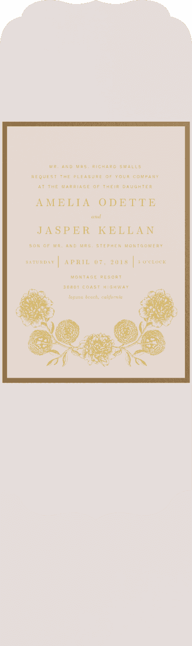 Love is Blooming Wedding Invitation