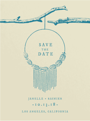 Dreamcatcher Save the Date Save the Date