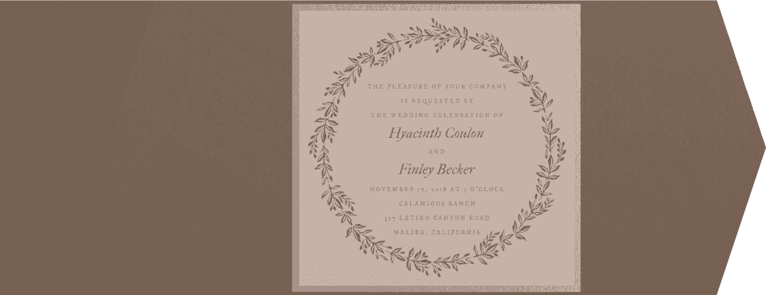Gorgeous Wreath Wedding Invitation